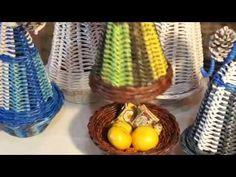 (27) Новогодняя ёлка сувенир из бумажных трубочек - YouTube