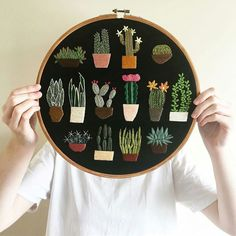 Madi Astolfi is a textile and embroidery artist on the Central Coast in . - Madi Astolfi is a textile and embroidery artist on the Central Coast in … – # - Cactus Embroidery, Simple Embroidery, Hand Embroidery Stitches, Modern Embroidery, Embroidery Hoop Art, Hand Embroidery Designs, Cross Stitch Embroidery, Embroidery Ideas, Embroidered Cactus
