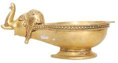 Brass Statues - Elephant head Deepa