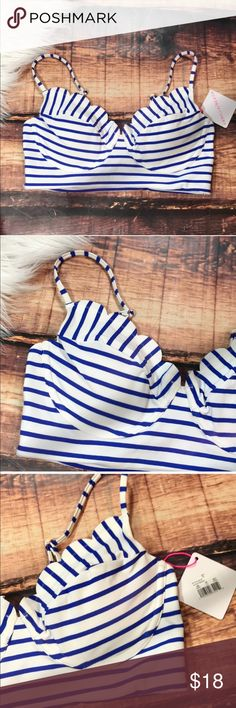 Striped Blue White Padded Push Up Bikini Super cute classic stripe bikini! Removable padding, adjustable straps. New with tags in perfect condition Swim