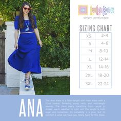 Ana size chart https://www.facebook.com/groups/lularoejilldomme/