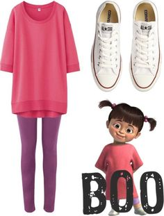 Disney fans might get a simple easy outfit for thei… homemade halloween costumes. Disney fans might get a simple easy outfit for their Halloween night, even with your Converse shoes. Sweet and cute just like BOO. Halloween Outfits, Great Halloween Costumes, Easy Costumes, Easy Disney Costumes, Disney Characters Costumes, Adult Disney Costumes, Family Halloween, Halloween Halloween, Easy Character Costumes