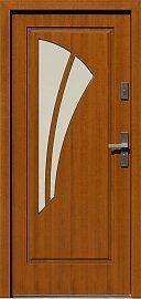 Drzwi zewnętrzne drewniane wzór 570,1 w kolorze złoty dąb