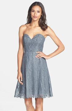 Jim Hjelm Occasions Strapless Lace A-Line Dress available at #Nordstrom