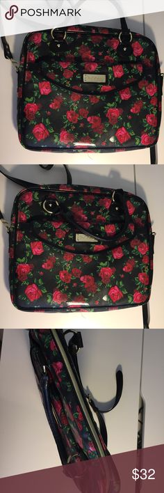 Betsy Johnson Computer Laptop briefcase Padded laptop briefcase. Also comes shoulder strap Betsey Johnson Bags Laptop Bags