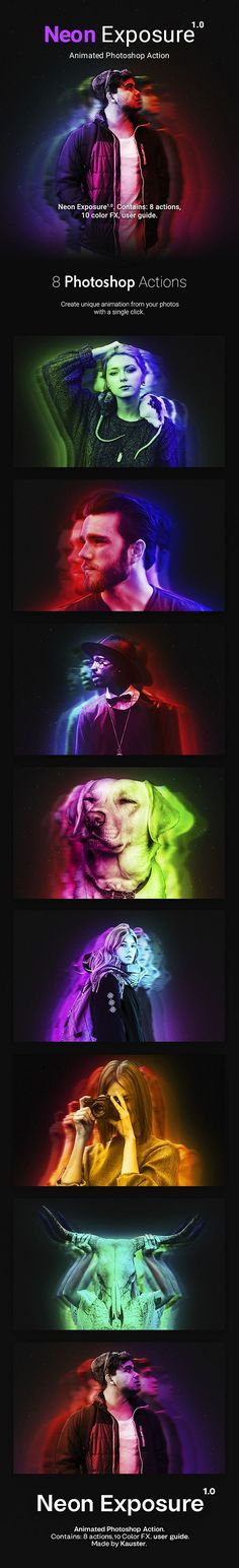 Neon Exposure - Animated Photoshop Action - Photo Effects Actions Download here: https://graphicriver.net/item/neon-exposure-animated-photoshop-action/20161097?https://graphicriver.net/item/eruption-photoshop-action/20164559?ref=classicdesignp