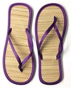 Dessy African Violet Flip Flops - Bridesmaid Flip Flops