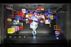 Barneys Window Displays Made Entirely Of Hair [Video] Window Display Design, Shop Window Displays, Store Displays, Retail Displays, Booth Design, Vitrine Design, Store Windows, Retail Windows, Visual Display