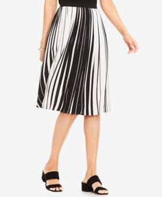 f39251003e Vince Camuto Pleated Striped A-Line Skirt & Reviews - Skirts - Women -  Macy's