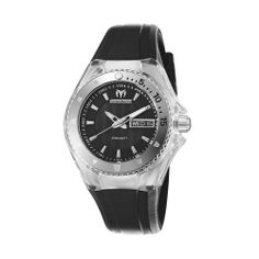 TechnoMarine Women's 110036 Cruise Original 3 Hands Black Dial Watch TechnoMarine. $337.50. Comes with and extra black cover and white silicone strap. 3 hands Quartz 34 mm stainless steel bezel. Black dial. Clear transparent cover and black silicone strap. Water-resistant to 660 feet (200 M). Save 10%!