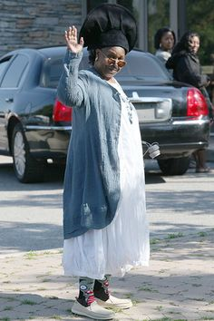 Whoopi Goldberg heads to the set of Lifetime original movie A Day Late and a Dollar Short in Toronto on August 19. Nice zombie socks, Whoops!