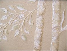 Diy 3d Wall Art Trees using Caulk/Joint compound - complete Tutorial nice technique