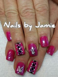 Playboy Nails Follow Nails by Jamie on Instagram! NailPro97401