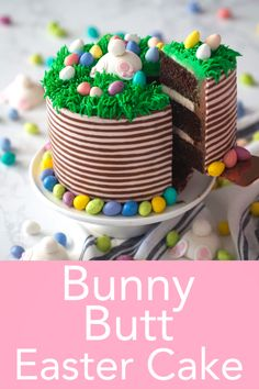 Bunny Butt Easter Cake The perfect Easter bunny cake from Preppy Kitchen to brighten up your table! Delicious strawberry-flavored cake covered in Italian meringue buttercream, topped with roses, chocolate eggs and the cutest little rabbit! Desserts Ostern, Köstliche Desserts, Easter Desserts, Easter Cake Flavors, Easter Cupcakes, Cake Decorating Techniques, Cake Decorating Tips, Easter Cakes Decorating, Food Cakes