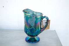 Vintage Fenton Carnival Glass Pitcher I have this and the matching cups!