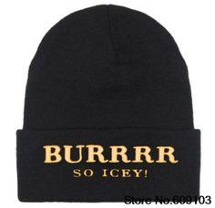 BURRRR Beanies Hats Hip-Hop wool winter Cotton knitted warm caps Snapback hat for man and women 1pcs $9.99