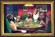 If you have a poker player in the house than this is the poster for them. Everyone's favorite poker dogs are instantly recognizable in this classic image. Jouer Au Poker, Dogs Playing Poker, Mona Lisa, Pokerface, Kunst Poster, Art Graphique, Caravaggio, Poster Prints, Art Prints