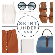 """""""Skirts Under 50"""" by c-silla ❤ liked on Polyvore featuring Topshop, Aéropostale, Tom Ford, Mead and jane"""