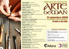 """Mercado de Artesanía """"Arte de Man"""" -Allariz"""