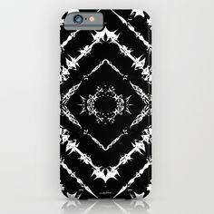 INKatha iPhone & iPod Case by Vikki Salmela, #black #white #tribal #geometric #art on #tech #fashion #phone cases for #him #office #travel or #gift.