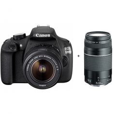 Canon EOS 1200D, DSLR Camera (with Video), CMOS, 18 MP, Full HD 1920 X 1080p/30fps, with 18 - 55 mm + 75 - 300 mm Lens