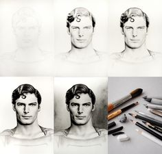 Drawing on paper step by step