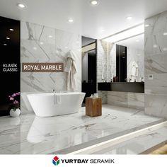 Royal Marble, yaşam alanlarına mermerin dingin dokusunu taşıyor.