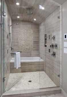small bathroom with tub.small bathroom with tub remodel.small bathroom with tub shower.small bathroom with tub layout.small bathroom with tub and shower.small bathroom with tub and walk in shower.small bathroom with tub design. Bathroom Tub Shower, Bathroom Renos, Bathroom Remodeling, Remodeling Ideas, Master Shower, Bathroom Layout, Bath Tubs, Vanity Bathroom, Bathroom Interior