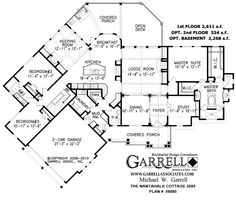 images about Floor plans on Pinterest   House plans    house plan   Nantahala Cottage House Plan   Plan     st Floor