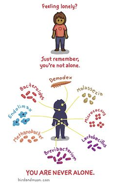 Feeling lonely - virus and bacteria humor