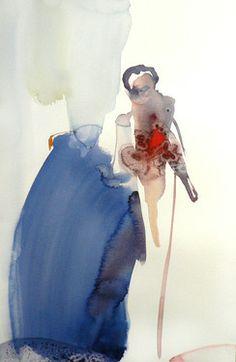 "Saatchi Art Artist Sylvia Baldeva; Painting, ""The bride - watercolor"" #art"