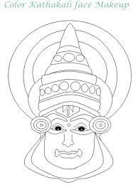 kathakali face pencil sketch - Google Search