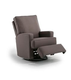 Kersey Upholstered Swivel Glider Recliner - Shadow