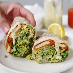 Erin Ireland - Vegan Buffalo Chicken Caesar Wraps