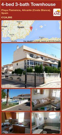 4-bed 3-bath Townhouse in Playa Flamenca, Alicante (Costa Blanca), Spain ►€124,995 #PropertyForSaleInSpain