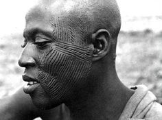 Africa | Facial scarification in West Africa in the early 1940s | Image credit John Atherton (gbaku) on flickr