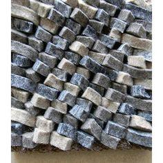 Modern Rugs Cobblestone Gray/BlueArea Rug Rug Size: Round 5'
