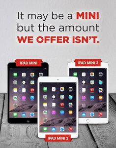 The iPad mini may be small, but our offer for one isn't! Check out how much money you can get for selling one through us.