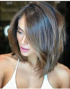 New Short Hairstyles, Layered Bob Hairstyles, Trending Hairstyles, Straight Hairstyles, Cool Hairstyles, Pixie Haircuts, Hairstyle Ideas, Black Hairstyles, Mid Length Layered Haircuts