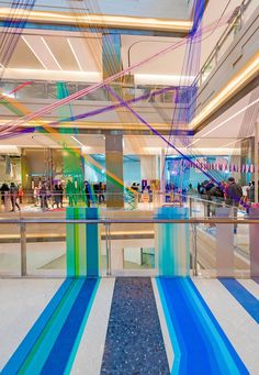 100architects revived Shanghai's shopping mall with coloured stripes and splash of vivid colour path