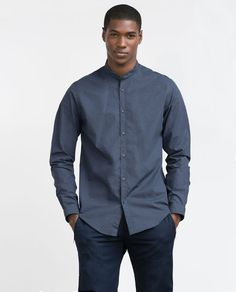 Image 1 of MAO COLLAR SHIRT from Zara