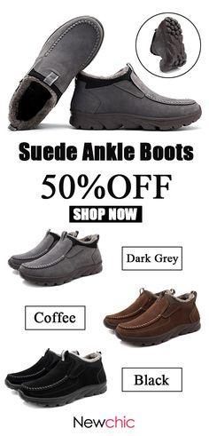 6dc7d4da1b2a Menico Menico Large Size Men Suede Comfy Warm Plush Lining Ankle Boots is  fashionable