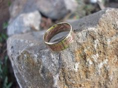Brass and copper band ringband ringcopper band by KZJewelryArt #brassandcopperbandring #brassring #copperring #mixedring #ring