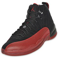 """Air Jordan Retro 12 Men's Basketball Shoe  Ever heard of the """"Flu Game"""" when Michael Jordan went off for 37 points, against the Utah Jazz in the '97 NBA Finals, while suffering from a stomach virus and fever set on from the Flu? The Air Jordan XII is back as a retro, paying tribute to one of the greatest performances we've ever seen in sports. The AJ 12 features a Phylon midsole with a full-length Zoom Air unit, 3/4-length carbon fiber shank, and modified herringbone outsole."""