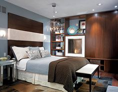 Brown blue bedroom on pinterest brown bedroom walls for Blue and brown master bedroom ideas