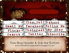 Free blog header and side bar buttons