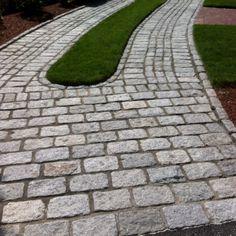 hardscaping - Cobblestone Driveway Idea---maybe front sidewalk instead.