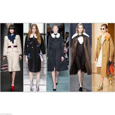 Trendy Coats for FW 2016: Fur Collar Coat. Gucci, Anya Hindmarch, Oscar de la Renta, Jason Wu, and Coach Fall Winter 2016.