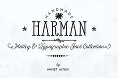 Check out Harman Font Family-50%off by aatype on Creative Market