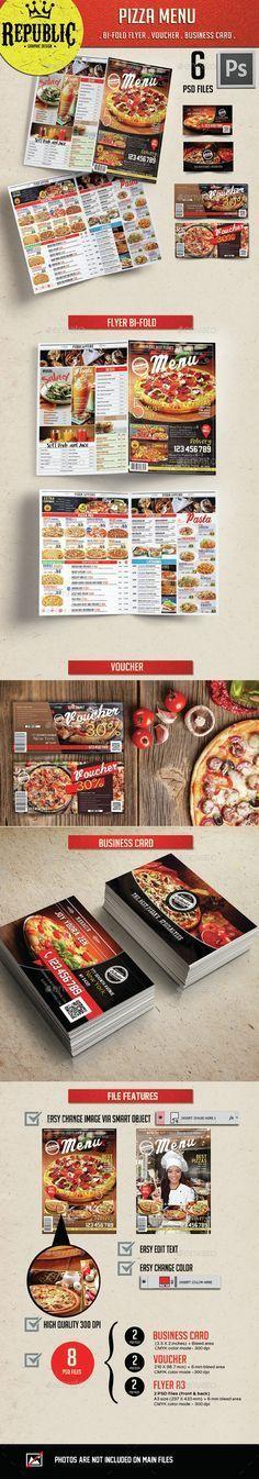 Restaurant Pizza Menu Template PSD. Download here: http://graphicriver.net/item/restaurant-pizza-menu-2/15093687?ref=ksioks